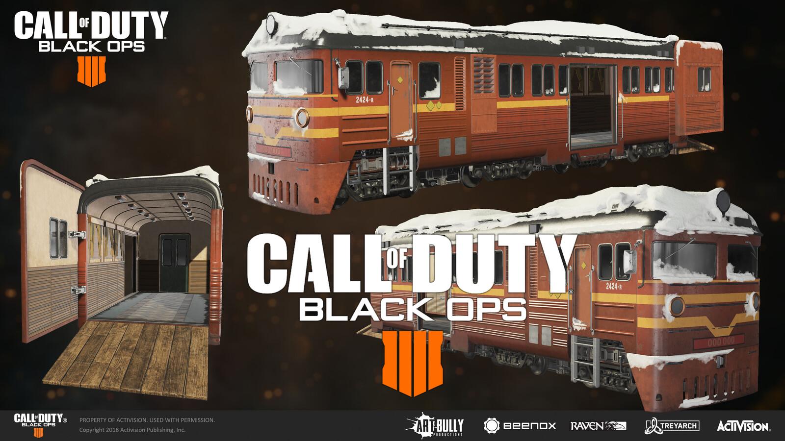 Call Of Duty Black Ops 4 Train wagon