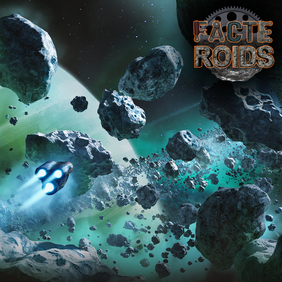 Asteroid field - Artwork created for FACTEROIDS game
