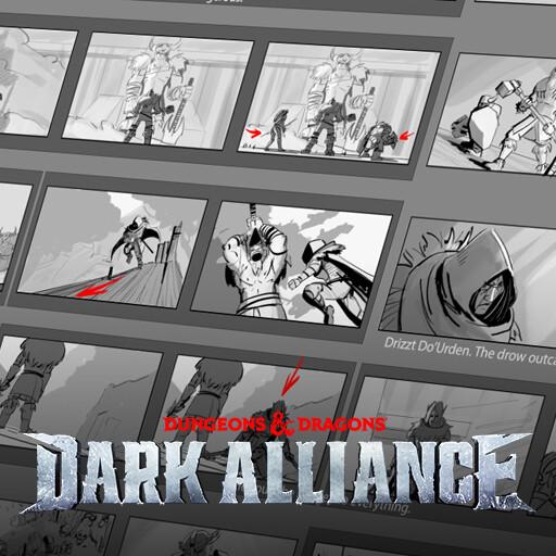 Dark Alliance Launch Cinematic Storyboard