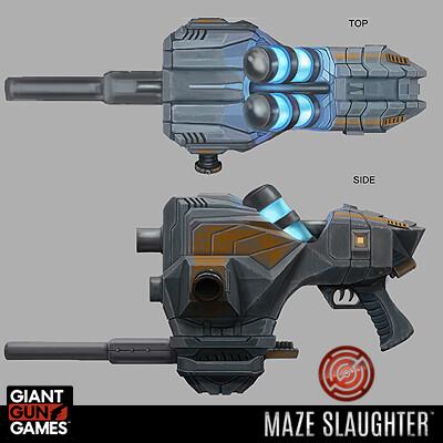 Maze Slaughter - Cryo Pistol Concepts