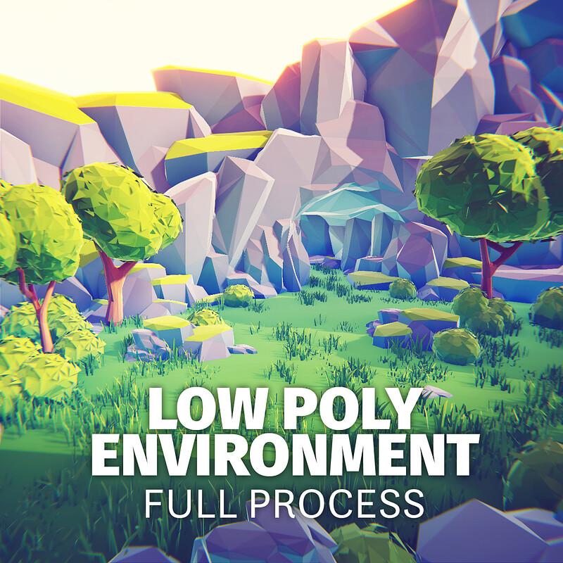 Low Poly Stylised 3D Environment in Blender & Unity