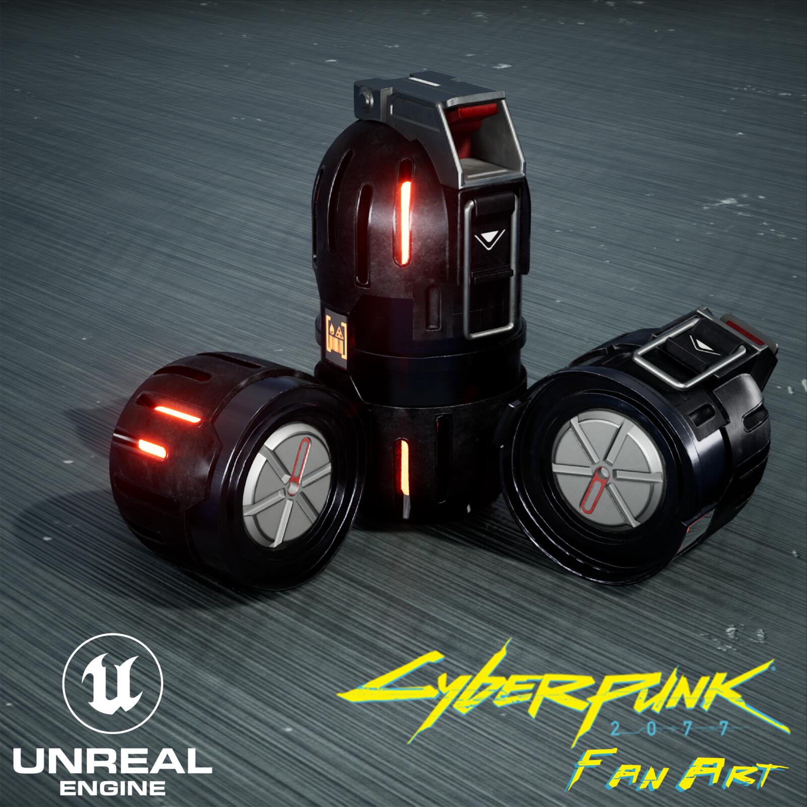 Cyberpunk 2077 Grenade Fan Art