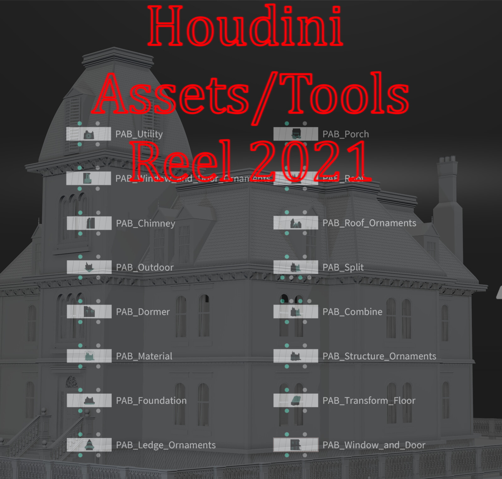 Houdini Assets/Tools Reel 2021