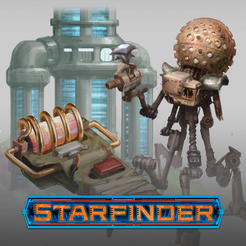 Starfinder - Junker's Delight Prop Illustrations