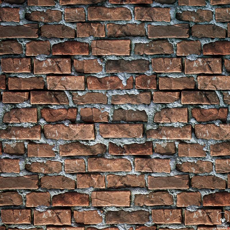 Colonial Brick Wall