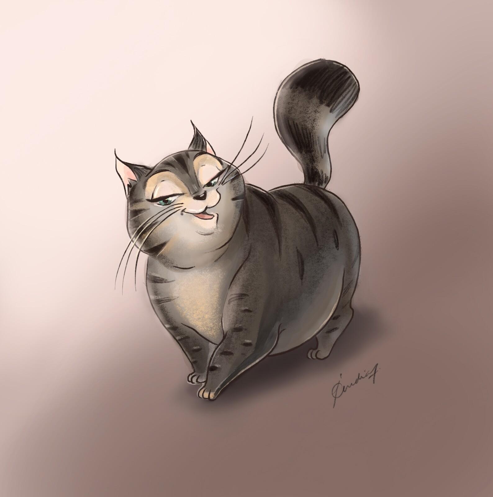 Ritinha: Character exploration of a Fat Cat