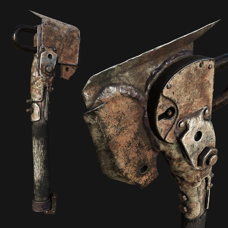 Postapo Melee Weapon game asset
