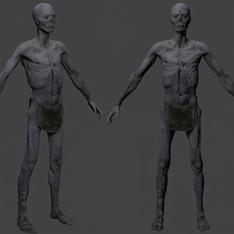 Undead - High Poly/Concepts/Look Dev