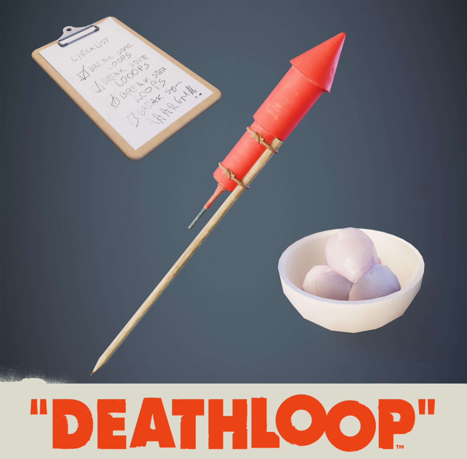 Various Deathloop Props