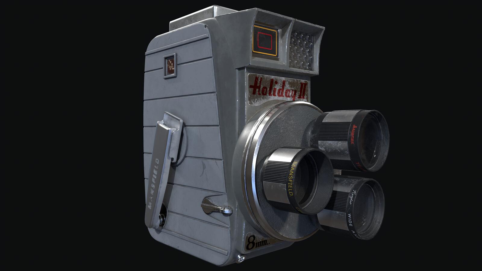 Mansfield Holiday II 8mm Triple Turret Camera
