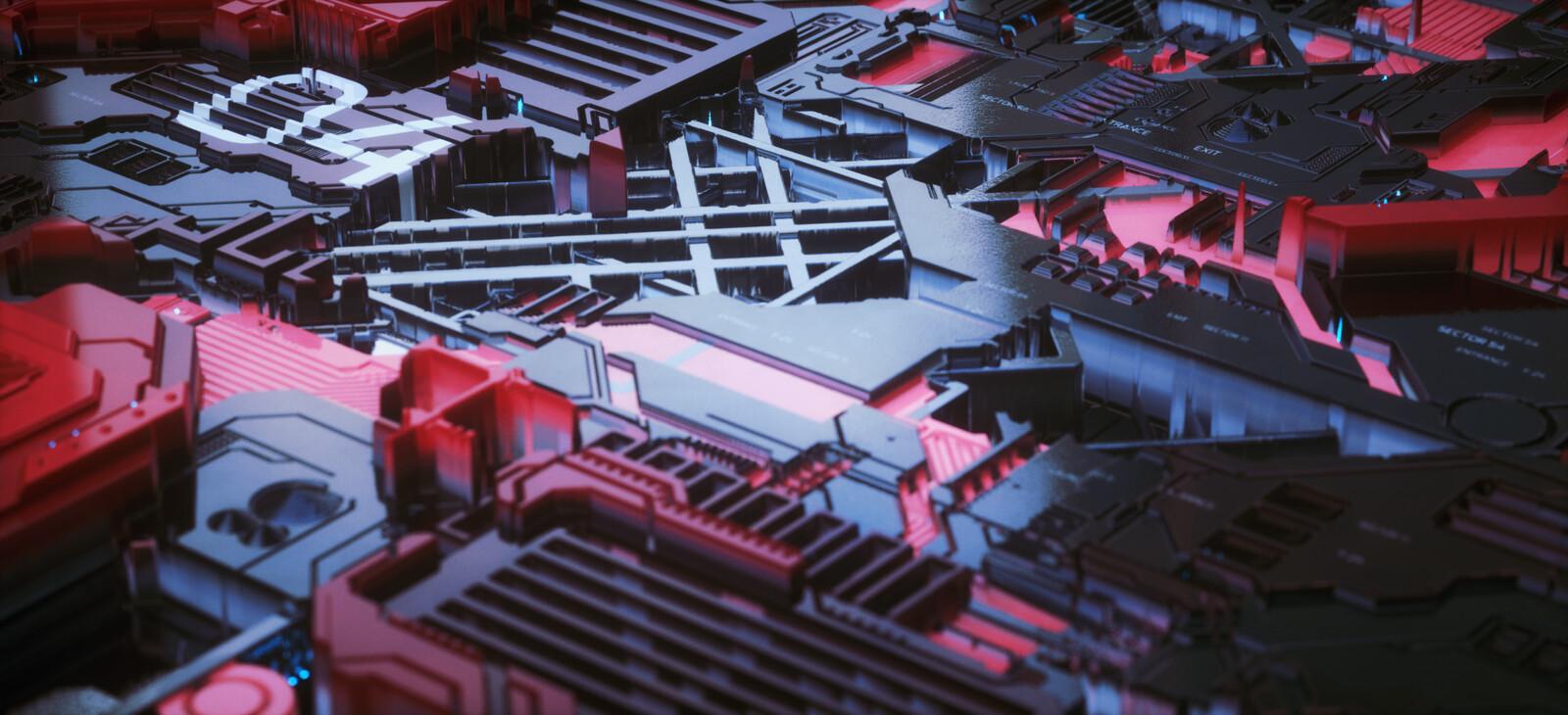 Sci-fi Panels // Octane // Cinema 4D