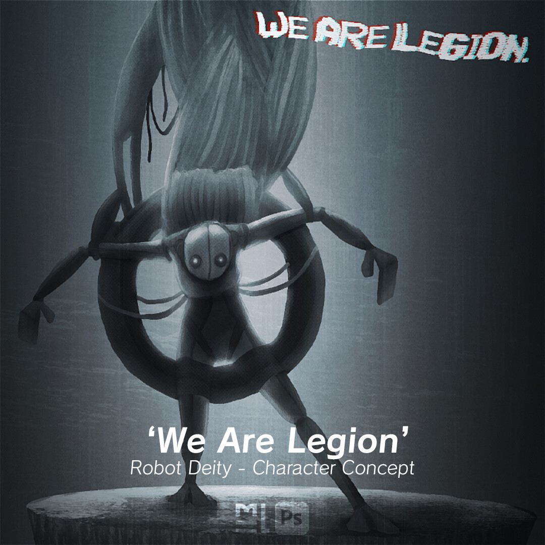 'We Are Legion' - Robot Deity Character Concept