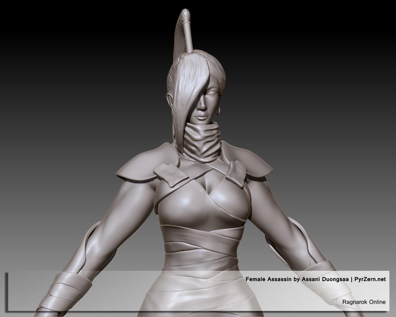 Sculpting - Ragnarok Online Female Assassin
