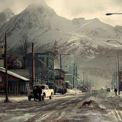 The Wolverine . Concept Art . Yukon Town