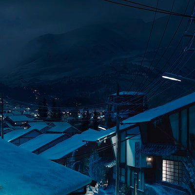 The Wolverine . Concept Art . Japanese Town