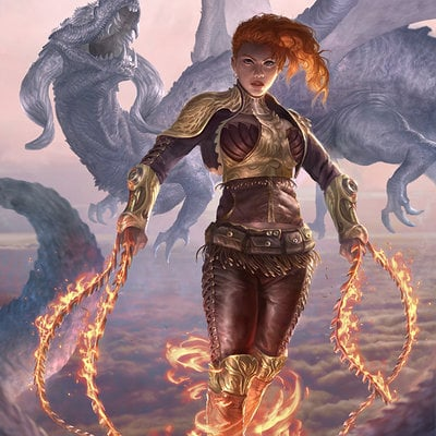 Flaming girl regular by john silva