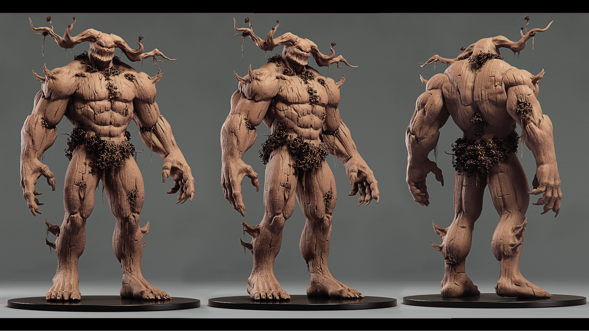 Creature render turntable