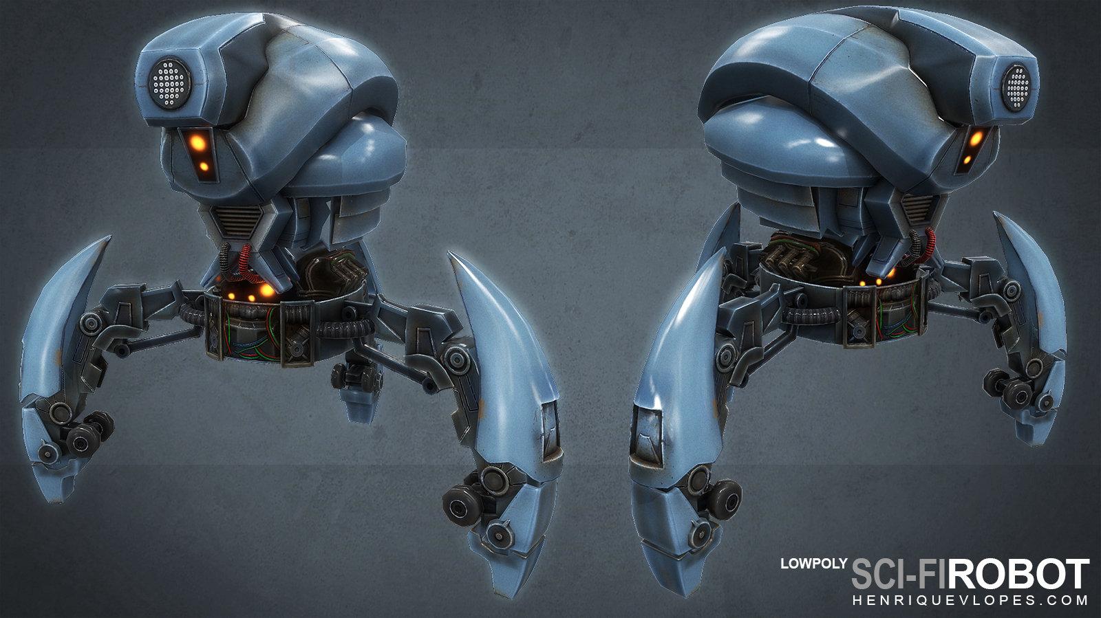 Scifirobot lowpoly01