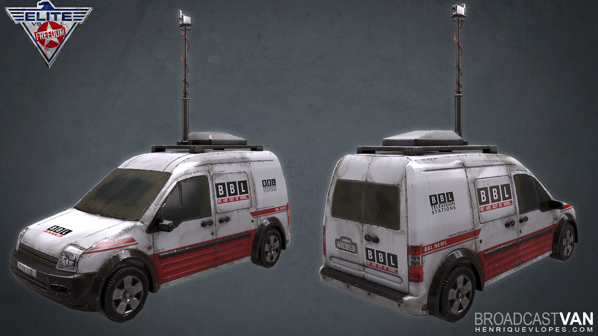 Small broadcast van