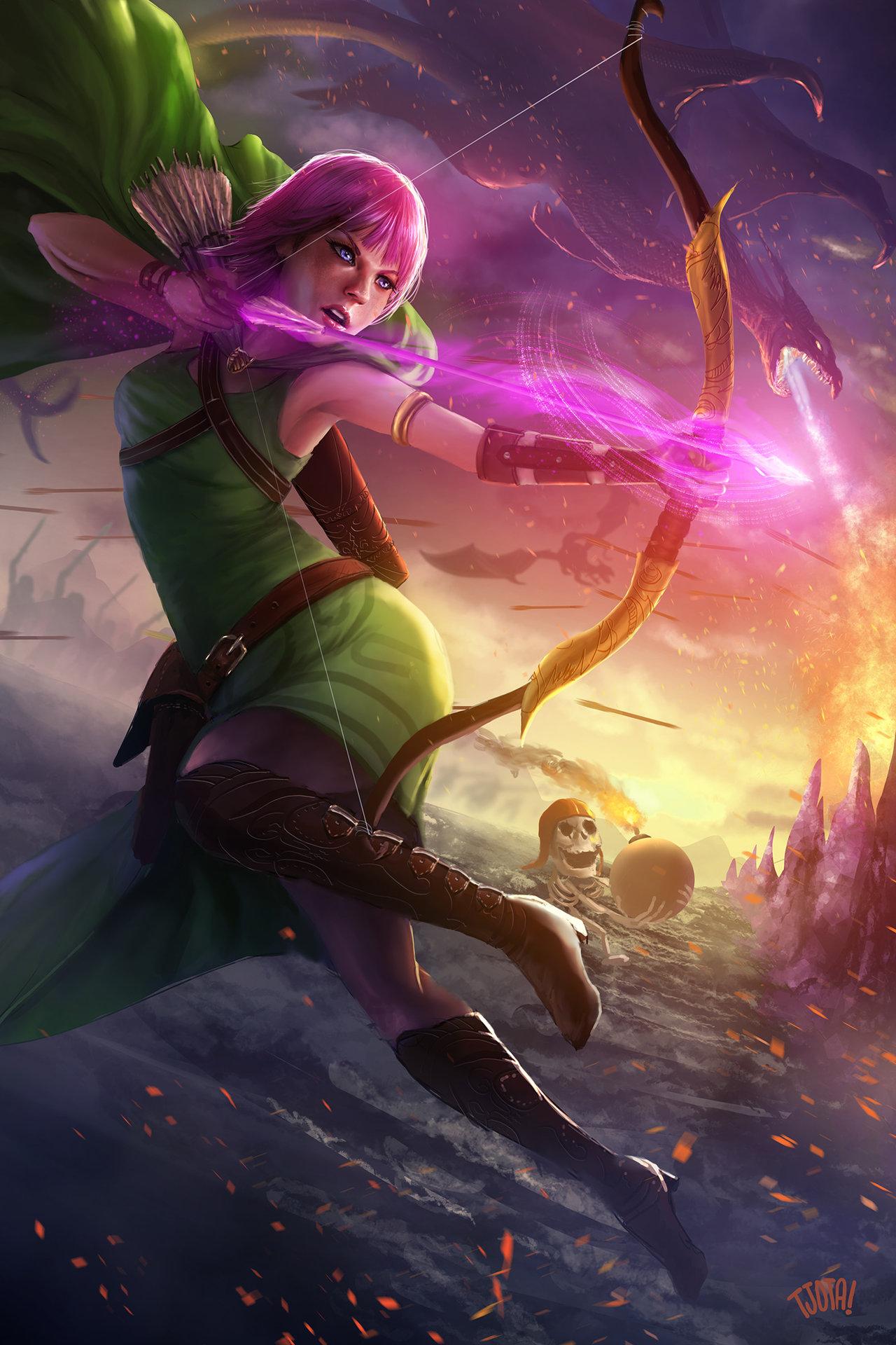 Artstation coc archer jackson tjota the making of clash of clans archer fan art stopboris Images