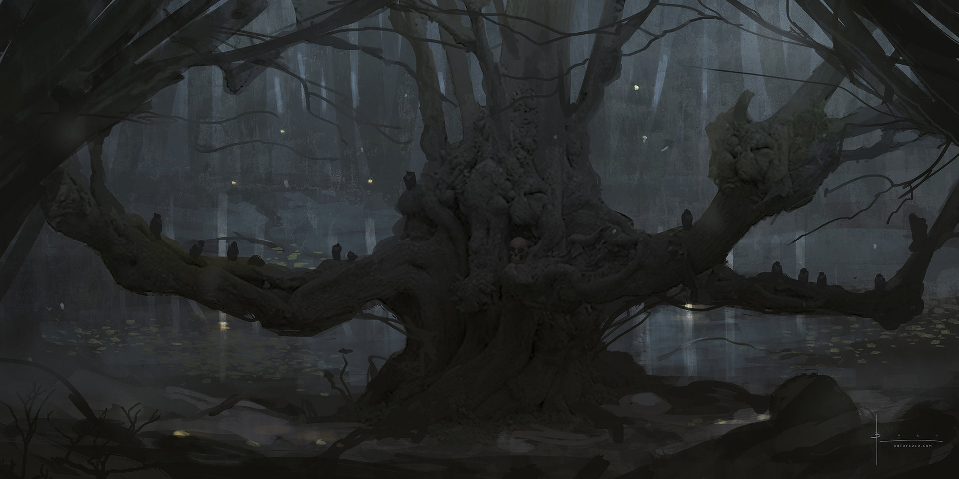 Speedpaint creepy forest