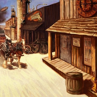 Old west town steam final