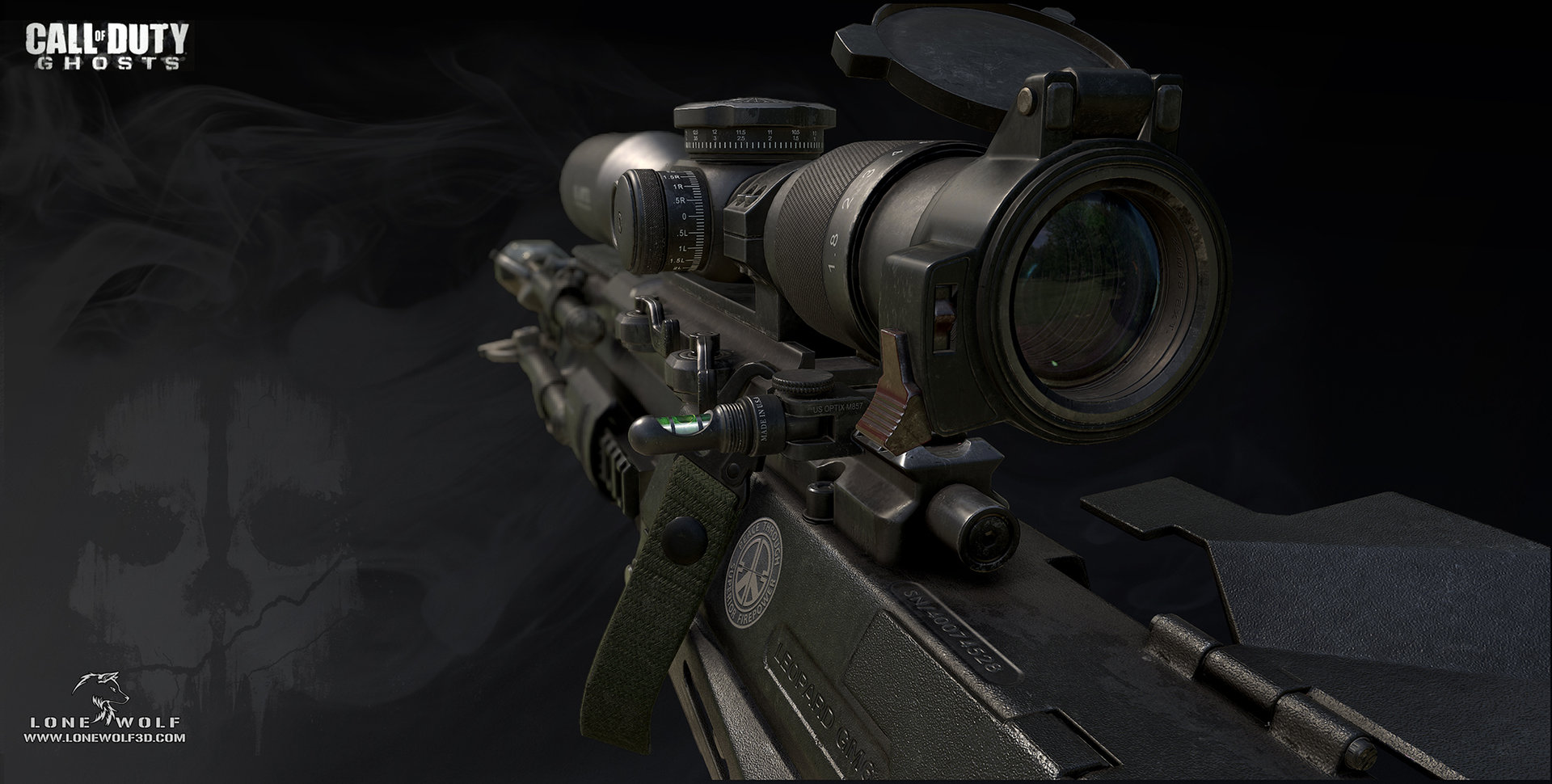 Call of duty ghosts gm6 model 01