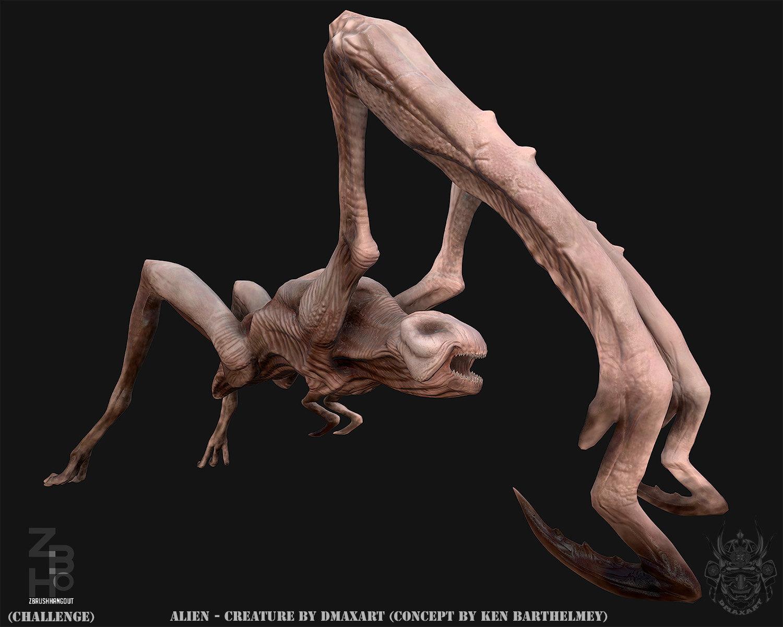 Alien creature  by dmaxart beauty