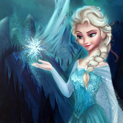 Elsa frozen niniel illustrator storenvy a