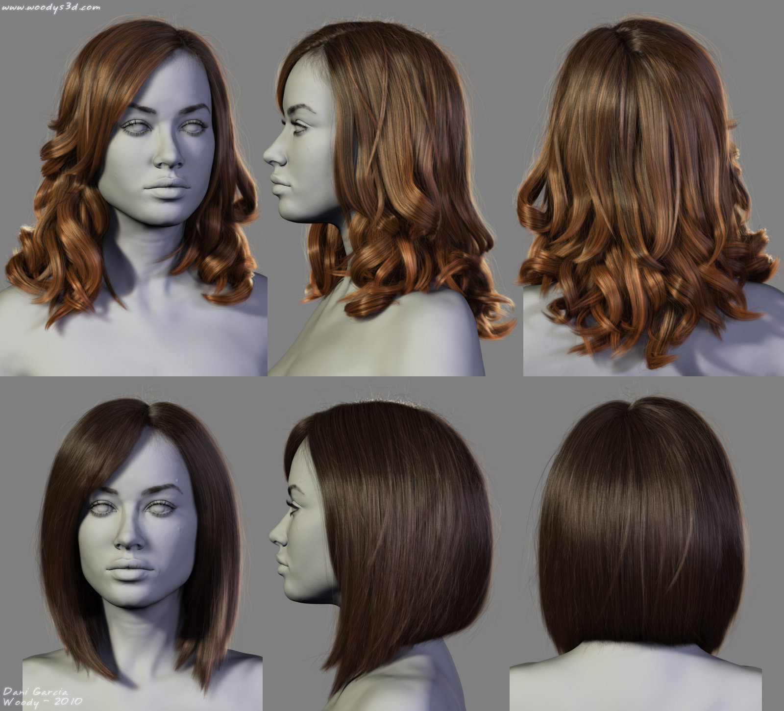 Artstation 4 New Hairstyles Dani Garcia