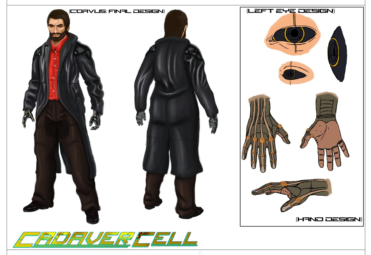 Fantasy Character Design Sheet : Hayden robinson university project cadaver cell