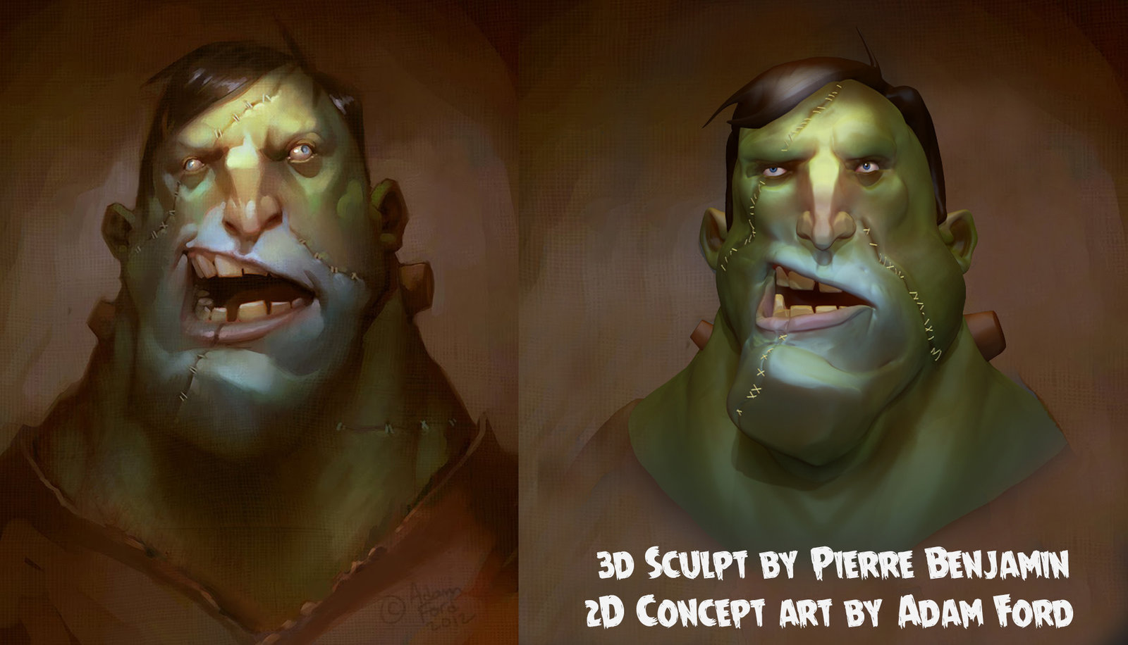 frankenstein speed sculpt based on Adam Ford artwork