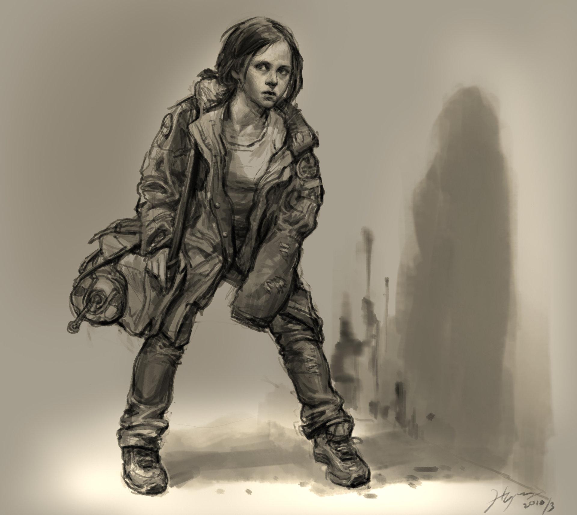 Heroine sketch hn 08