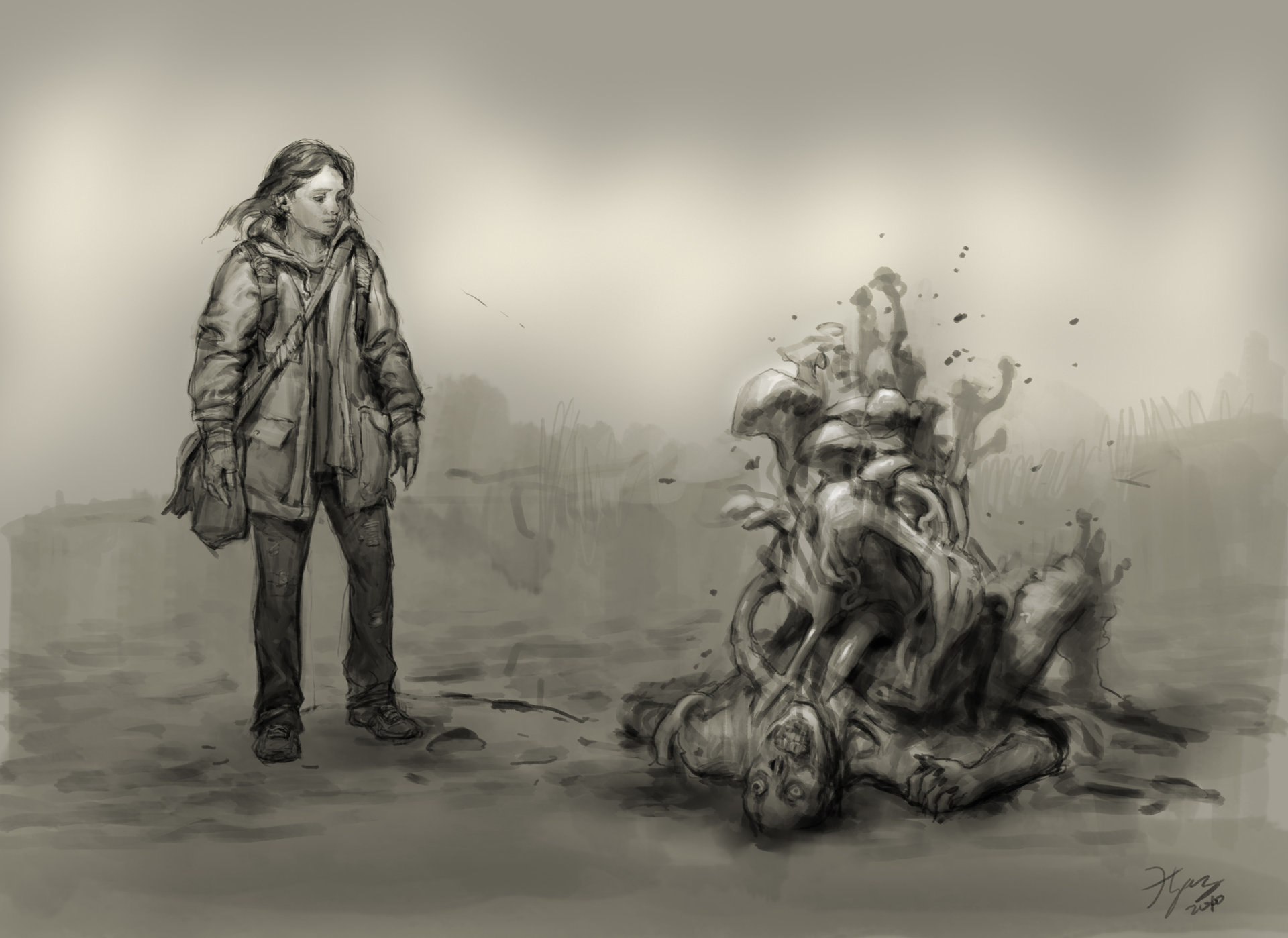 Heroine sketch hn 12