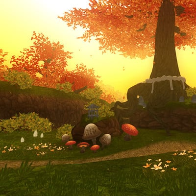 Autumn forest tallon
