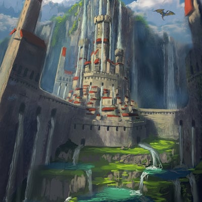 Castle under  the  crying  king travis lacey web concept art