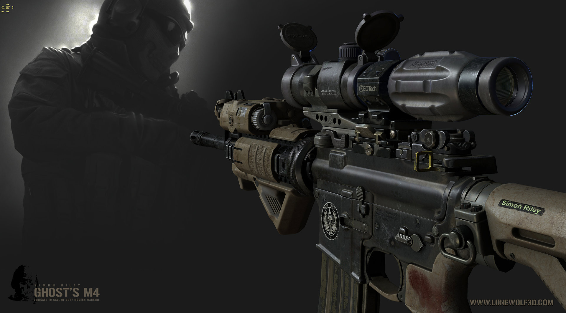Ghost m4 call of duty 2500