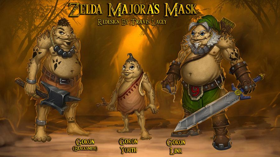 artstation majora s mask redesign goron s travis lacey