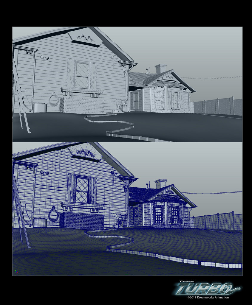 Turbo House Environment vis-dev model (Maya)