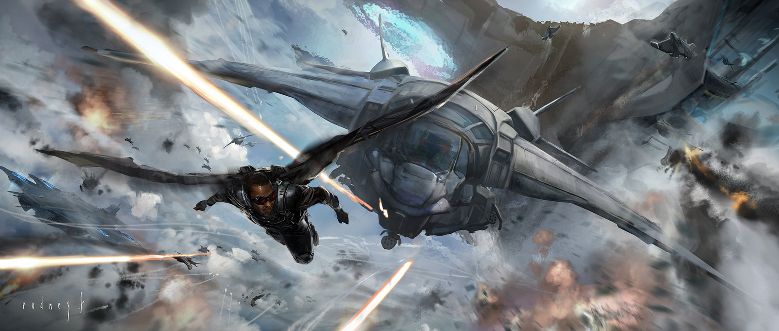 Key Frame Illustration - Marvel's Captain America The Winter Soldier 3