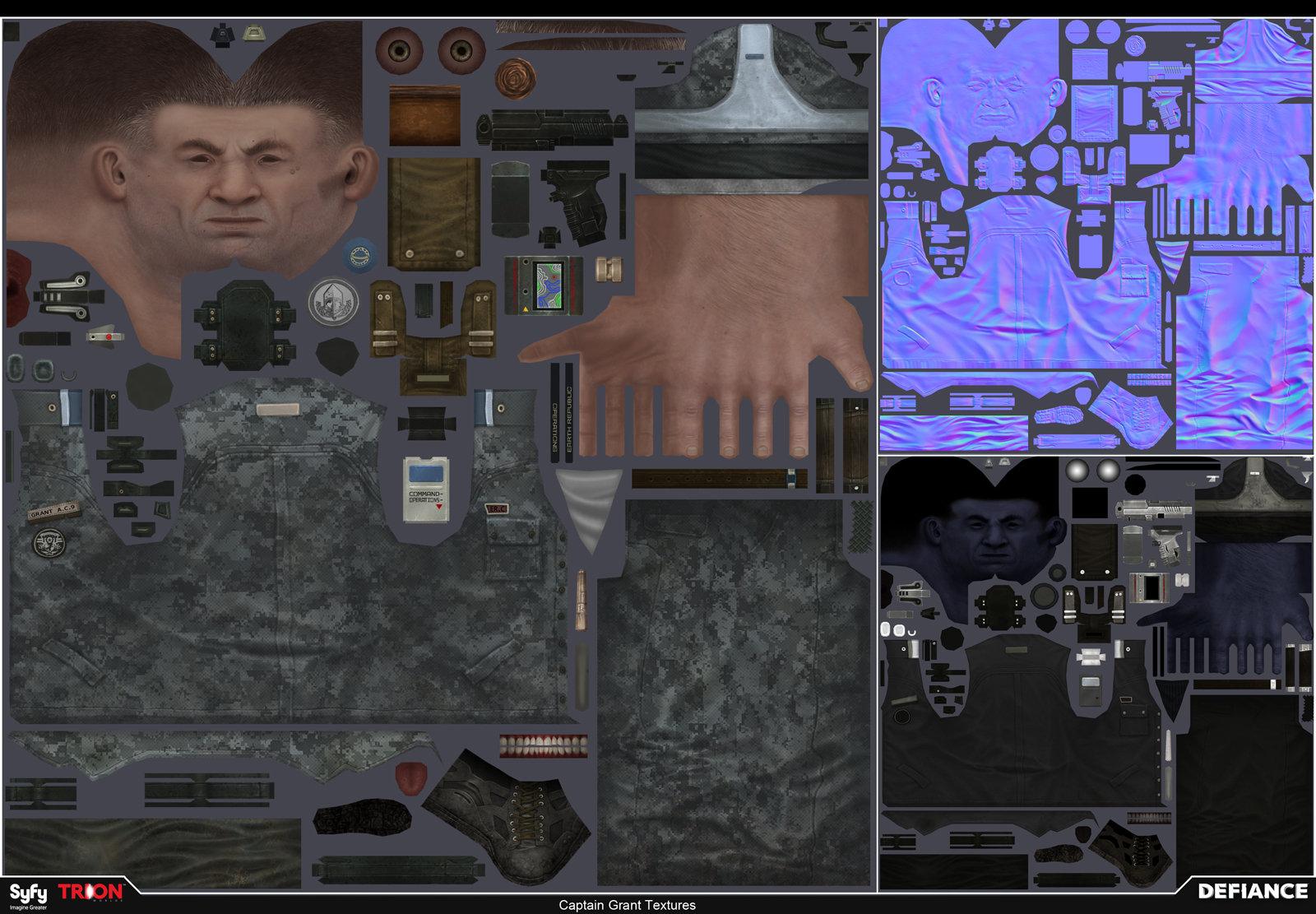Star captain grant textures