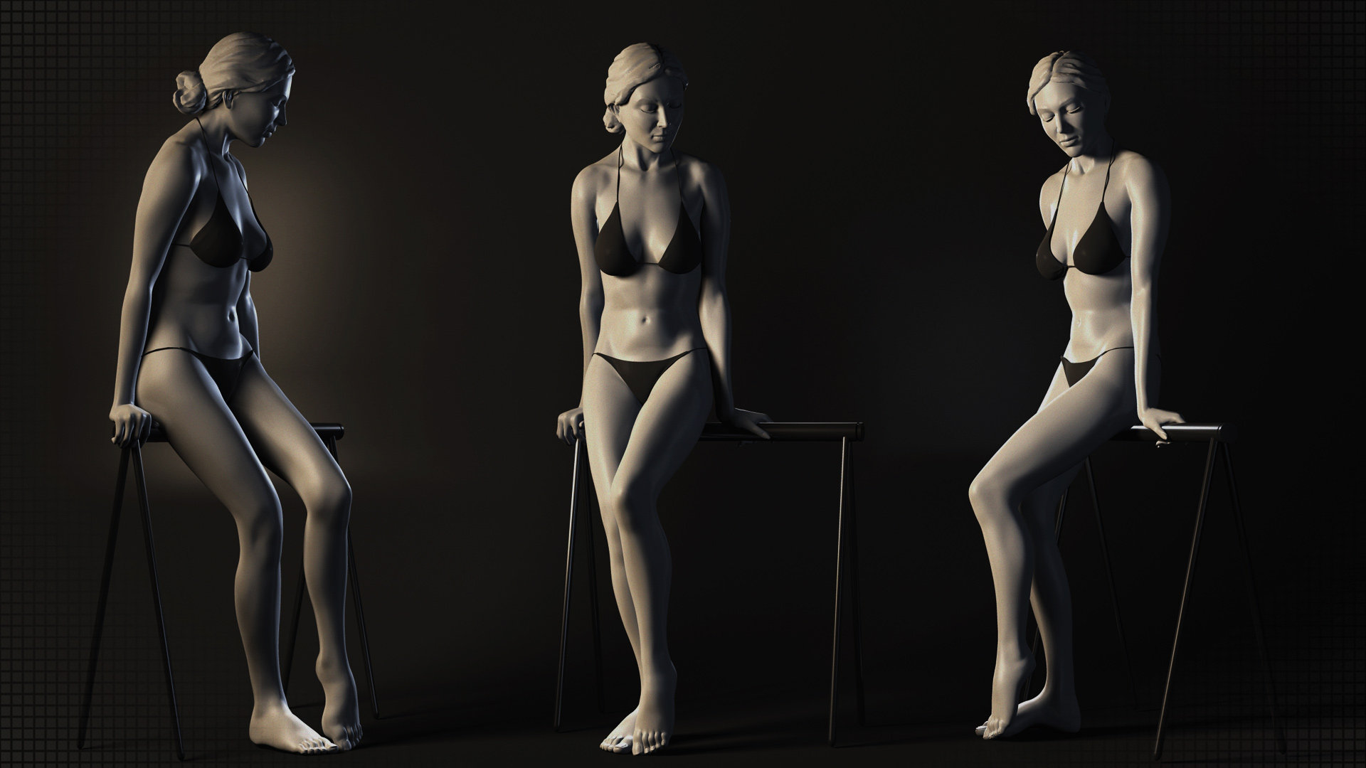 ArtStation - Female Anatomy Sculpt Study, Robin Brockötter