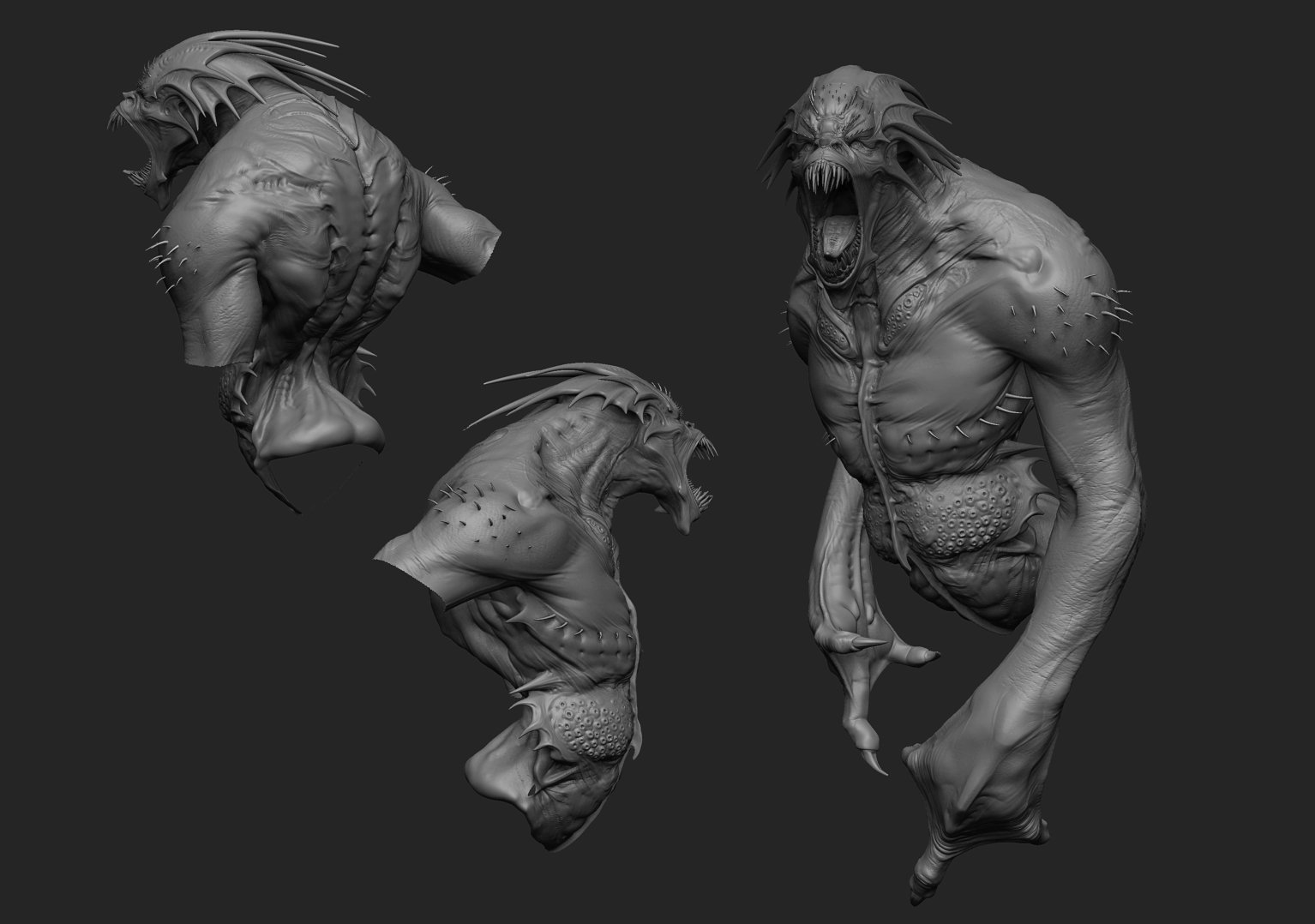 Taunt creature sculpture
