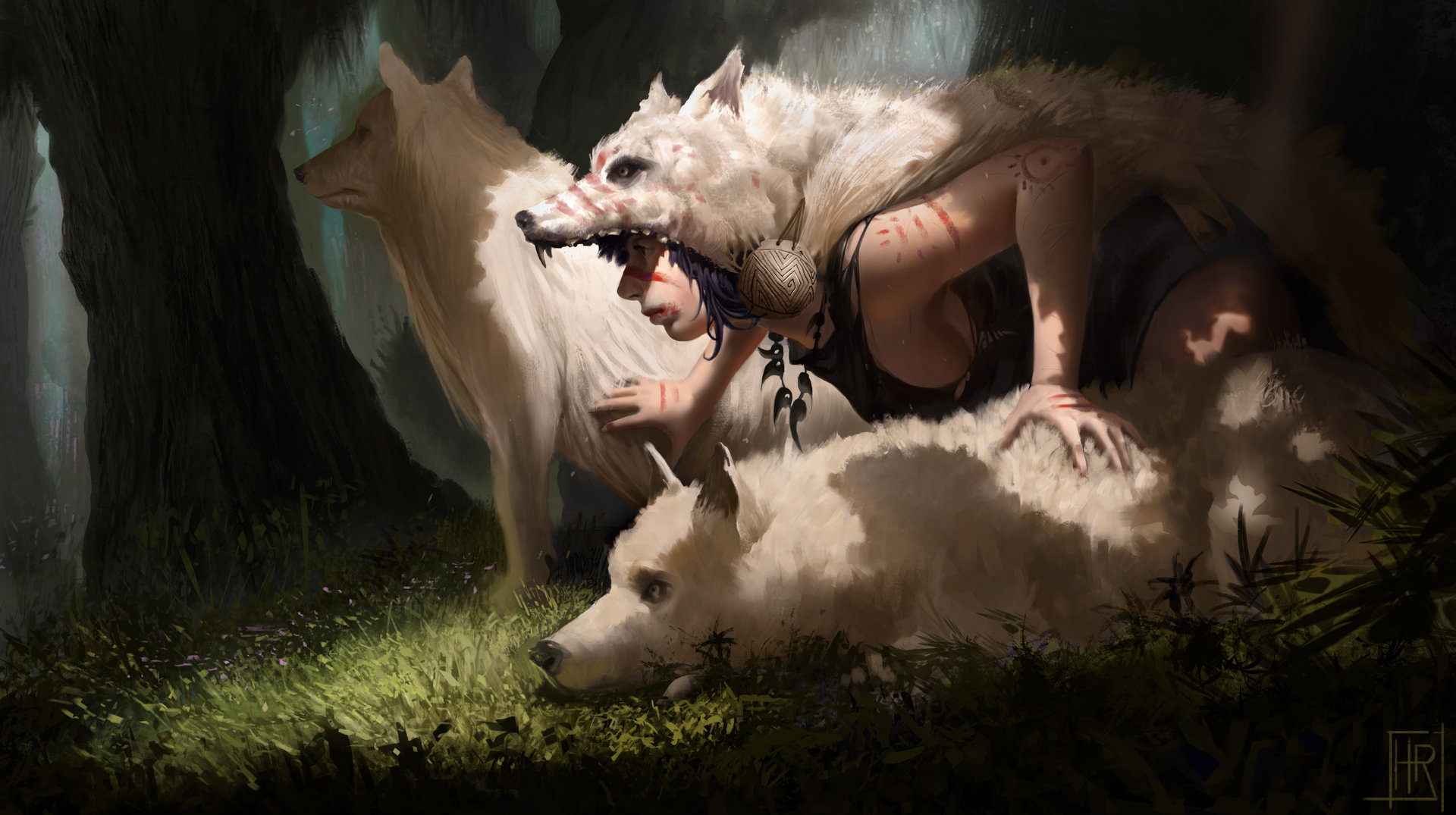 Girl and wolves final