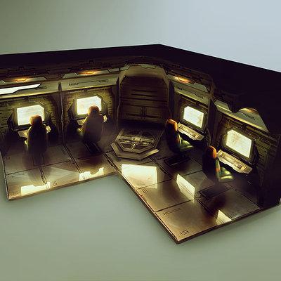 Ship interior concept 07 computer room 6x3
