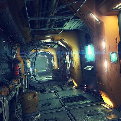 01 corridor render