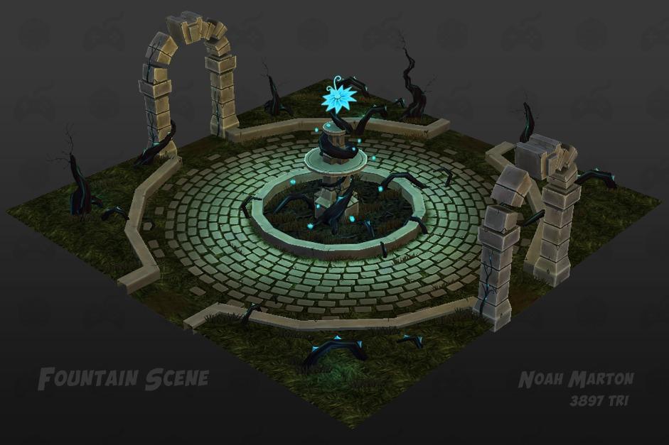 Fountain render3