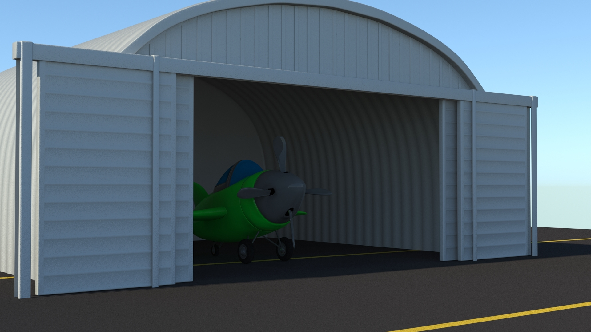 another shot of the hanger