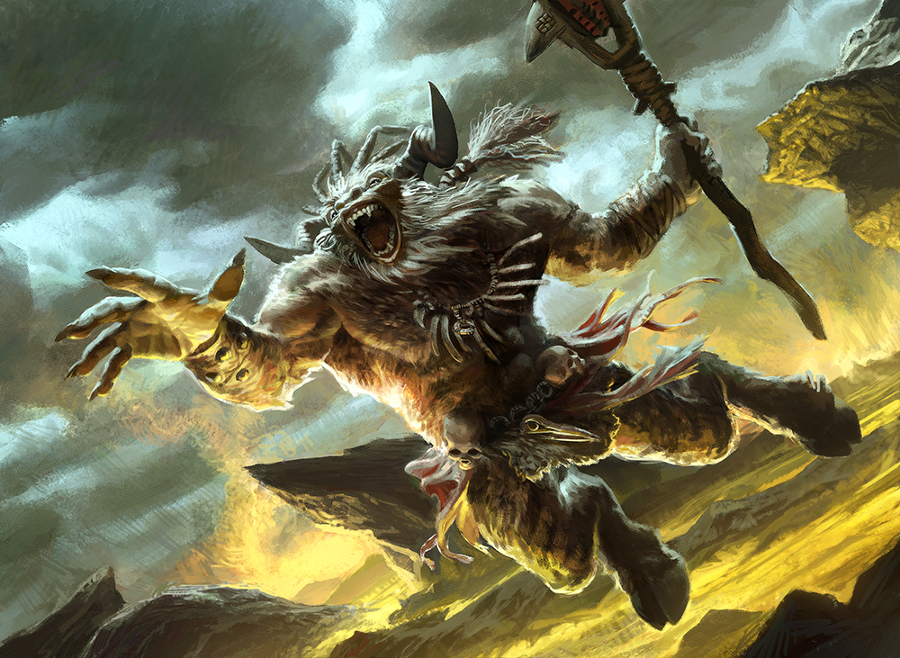 """Warchanter of Mogis"" Magic the Gathering"