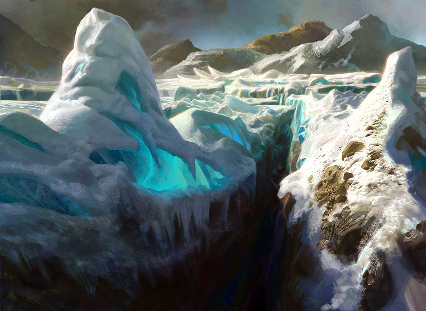 """Glacial Chasm"" Magic the Gathering"